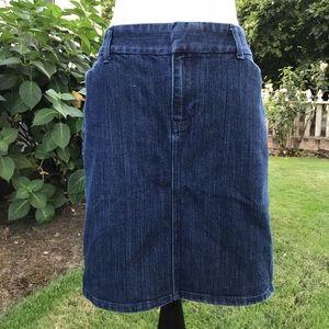 Old Navy Denim Trouser Skirt Size 8
